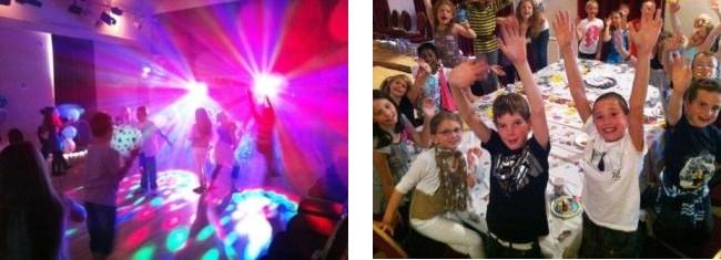 Childrens Disco Buckingham Birthday Party in full swing