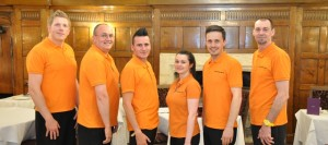 A line-up of our Childrens Disco Leamington Spa Entertainers, from left to right we have Mark, Dave, Neil, Kim, Phil and not forgetting Terry.
